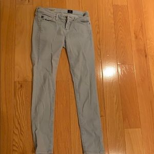 "AG ""the Legging Ankle"" blue corduroy pant"